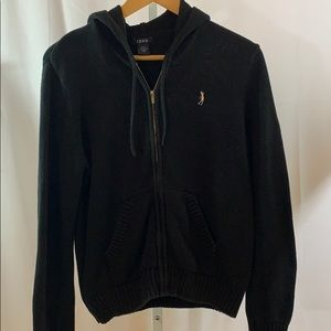 IZOD Golf Hoodie Sweater. Black SZ